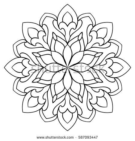 Image result for simple mandala | Patterns | Simple mandala, Mandala