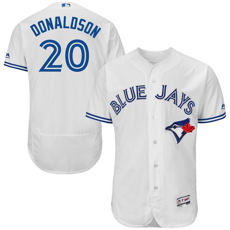 pretty nice 336a5 6a8b6 Josh Donaldson Toronto Blue Jays Majestic Home Flex Base ...