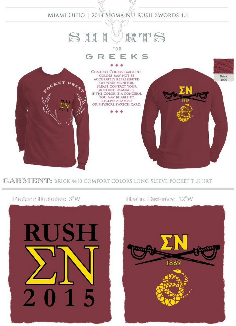 sigma nu | greek life | rush | fraternity designs | tshirts