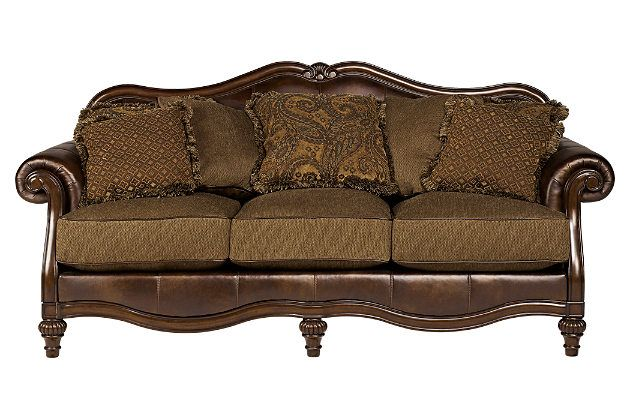 Antique Color Claremore Sofa Ashley Furniture 899 99 Antique