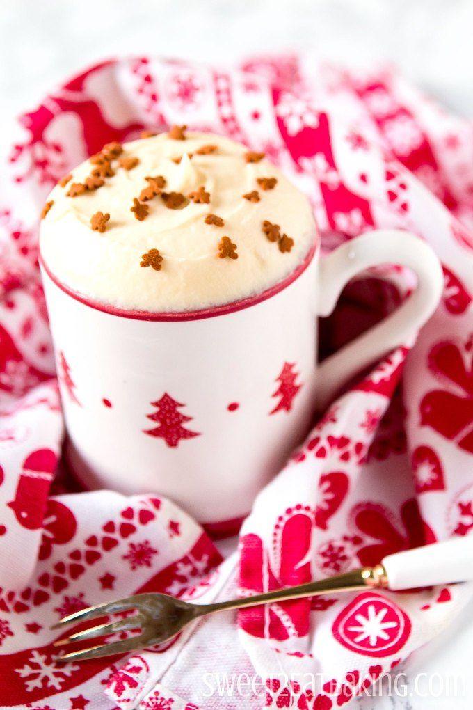 No Bake Gingerbread Mug Cake | Recipe | Mug recipes ...
