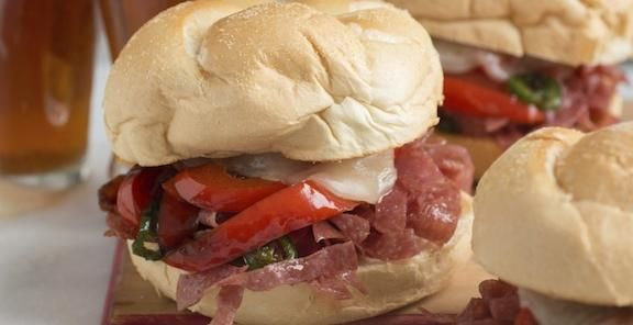 fried salami with hot peppers sandwich stuffed hot peppers stuffed peppers pepper sandwich pinterest