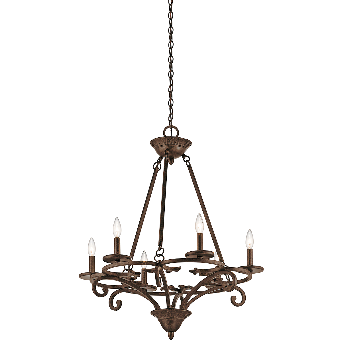 Caldella 6 Light Chandleier in Aged Bronze - for breakfast room?