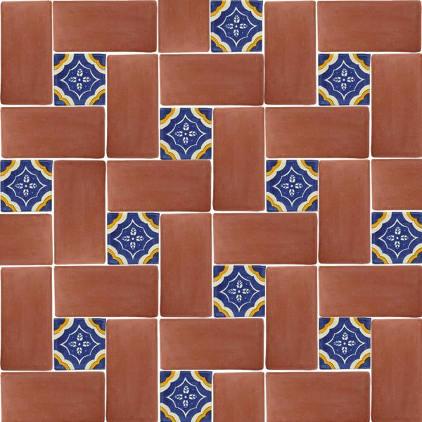 I Like The Pattern Mexican Tile 6 X 12 Spanish Mission Red