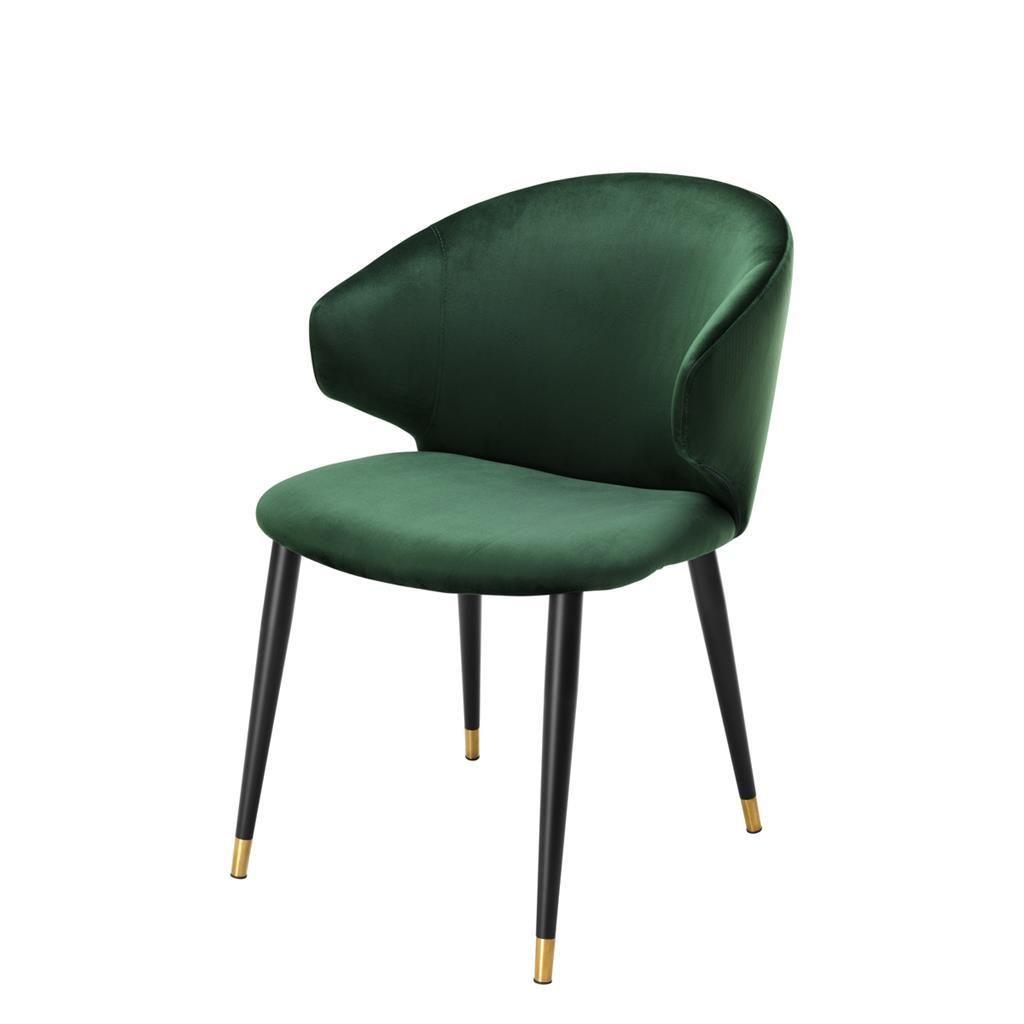Green velvet dining chair eichholtz volante luxury