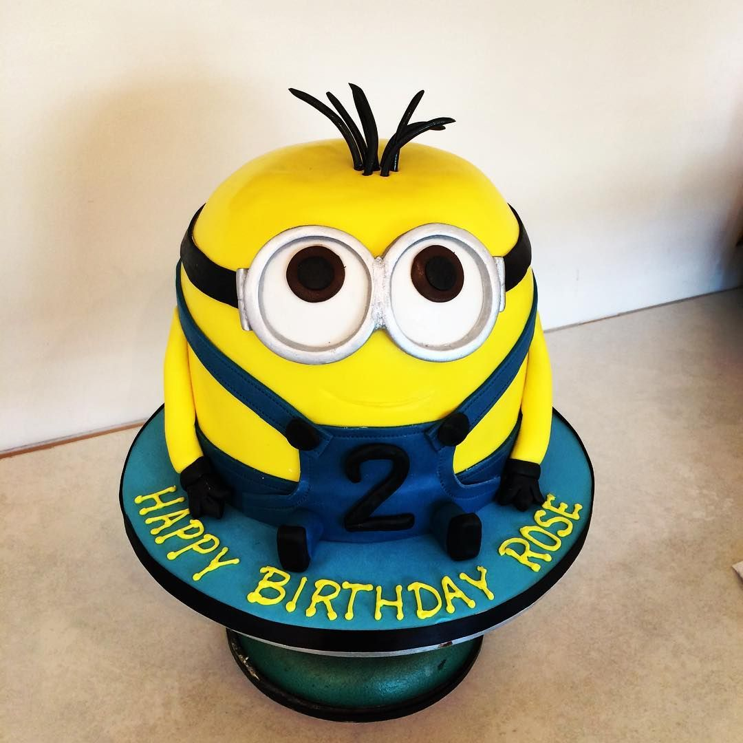 Kevin the minion just left our shop Happy 2nd birthday Rose