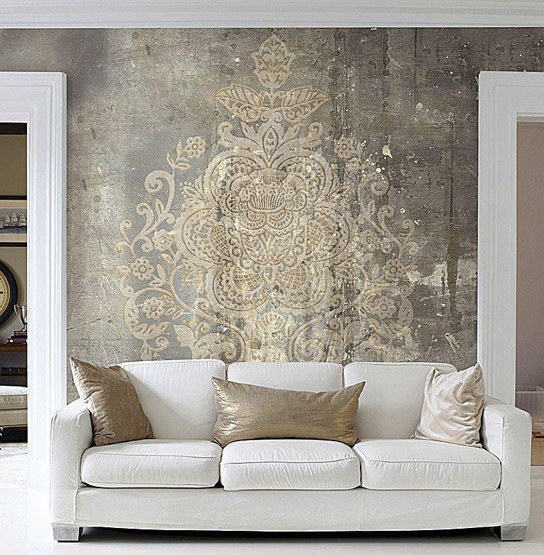 Fototapete Vlies Designtapete Digitaldruck Damask Vintage Luxus Kaufen Bei Hood De Tapeten Wohnzimmer Design Tapeten Luxus Tapeten