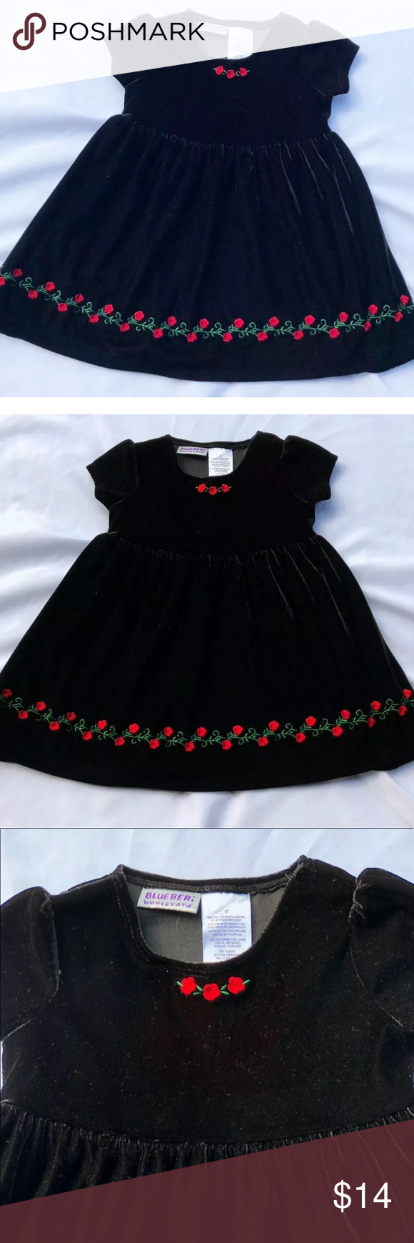 4 25 Blueberri Blvd Black Holiday Dress 2t Black Holiday Dress Holiday Dresses Kids Dresses [ 1740 x 580 Pixel ]