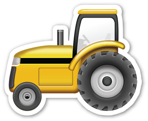 Tractor Emojistickers Com Construction Theme Party Tractors Tractor Birthday Party