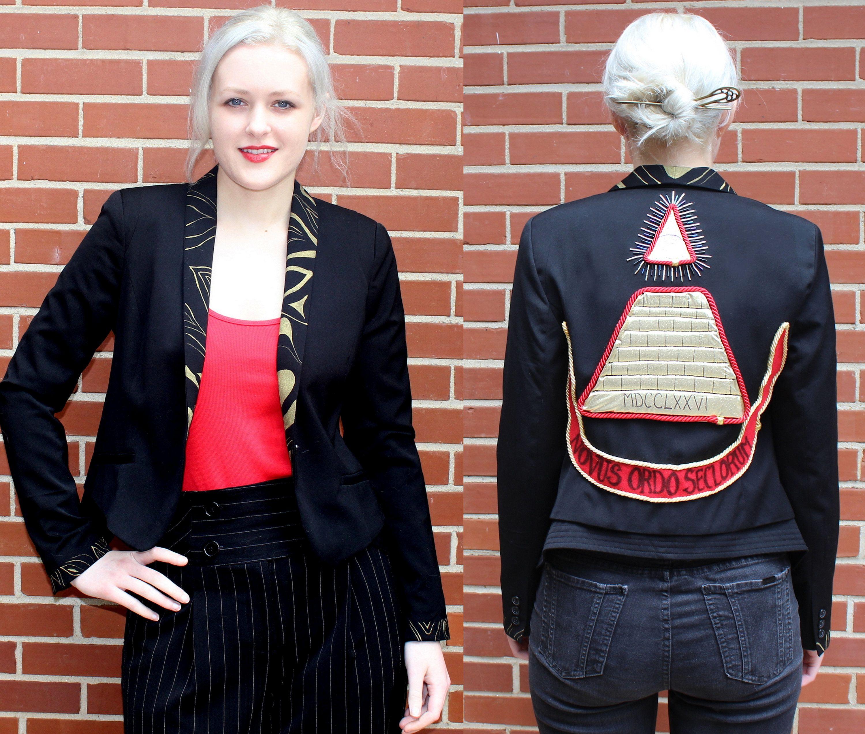 Madonna inspired Desperately Seeking Susan Pyramid Jacket Custom Order Listing