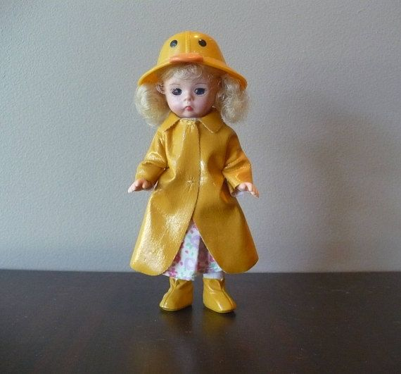 cheaper sale exquisite design clearance prices Vintage Doll Rainy Day Doll Duck Rain Suit Small Plastic ...