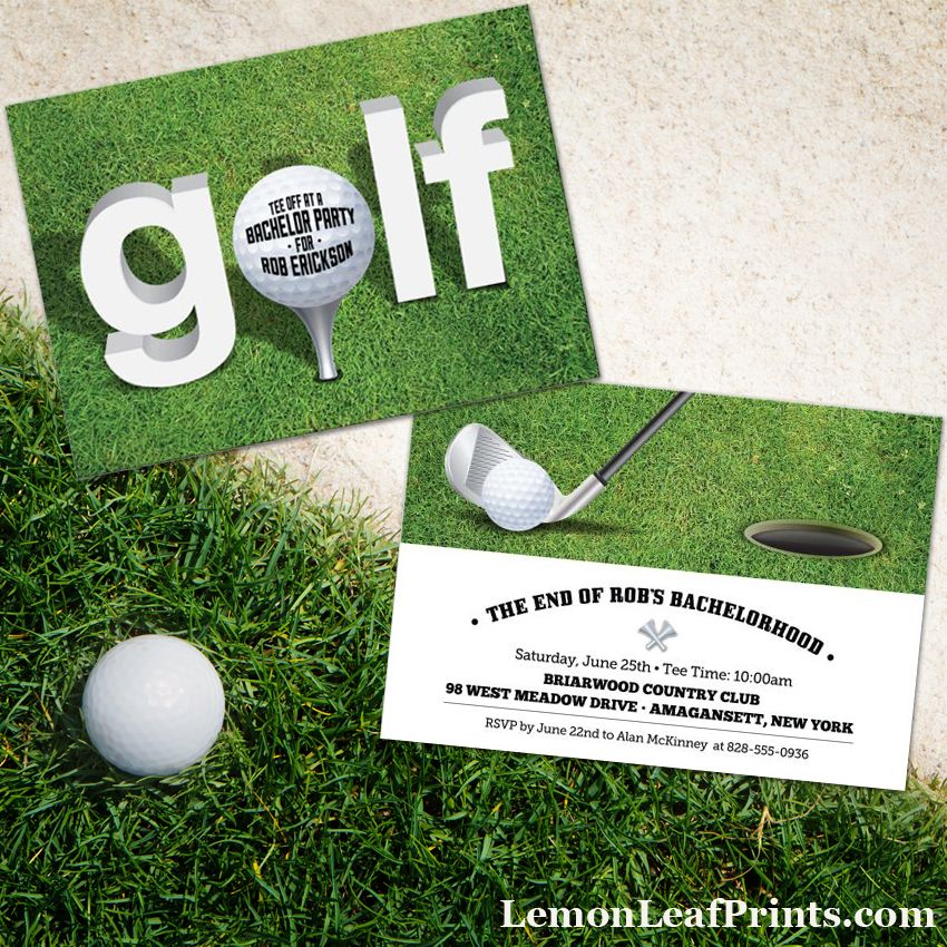 a selection of golf themed party invitations any of these golf