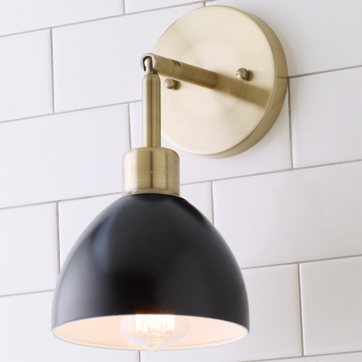 Young House Love Dapper Sconce Dry Location Only Modern Sconces Wall Sconces Bedroom Sconces