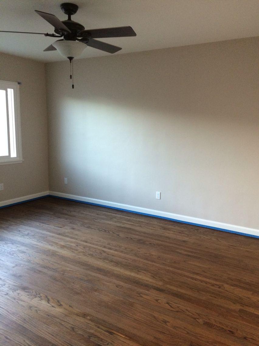 Original Hardwood Floor In Medium Brown Paint Color Cedar Key By