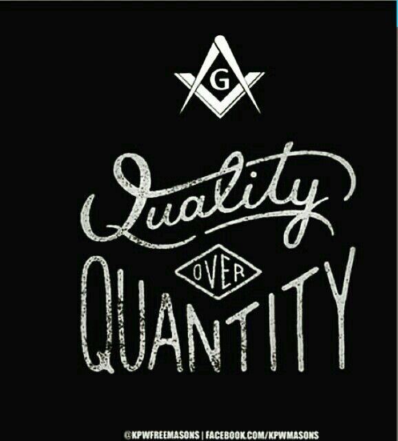 Quality over Quantity \G/