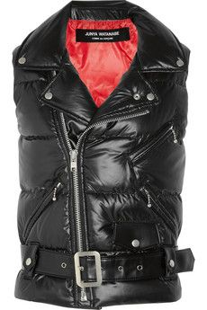 Junya Watanabe  Ester taffeta and faux leather quilted gilet