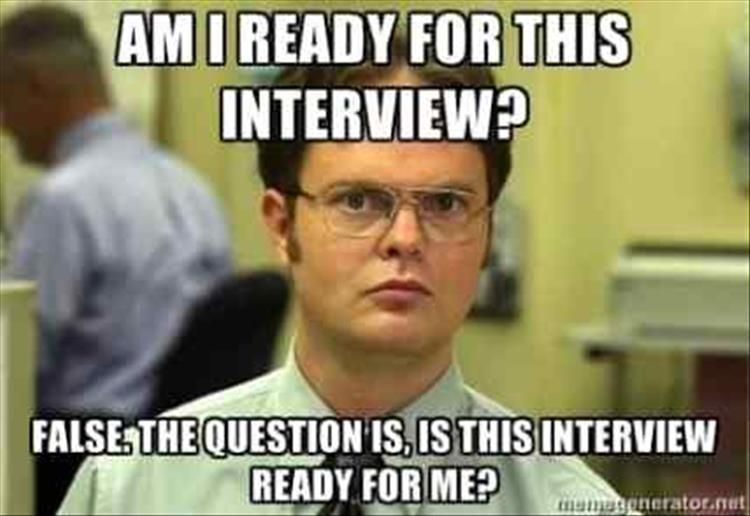 Image result for interview meme