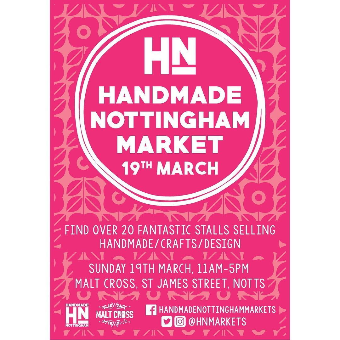 How gorgeous is the poster @FableandBlack designed for us! Still time to get you application in. Deadline 29th January Link in profile #hnmarkets #supportindependent #springmarket #market #craftfair #shoplocal #buyhandmade #itsinnottingham