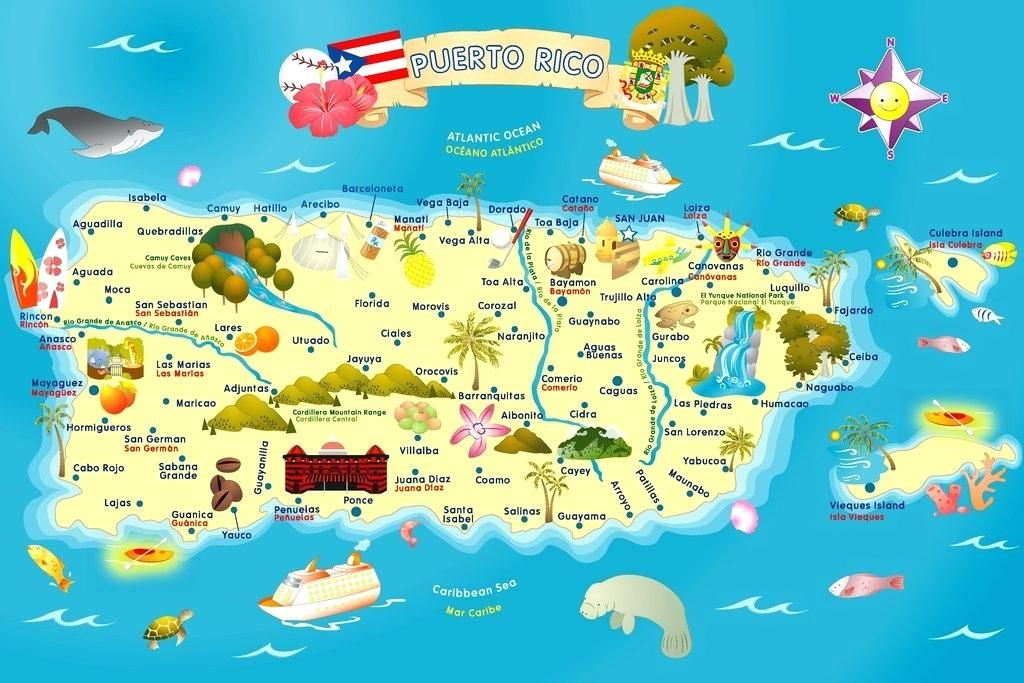 Image result for map of puerto rico | Cruise | Puerto rico map ...