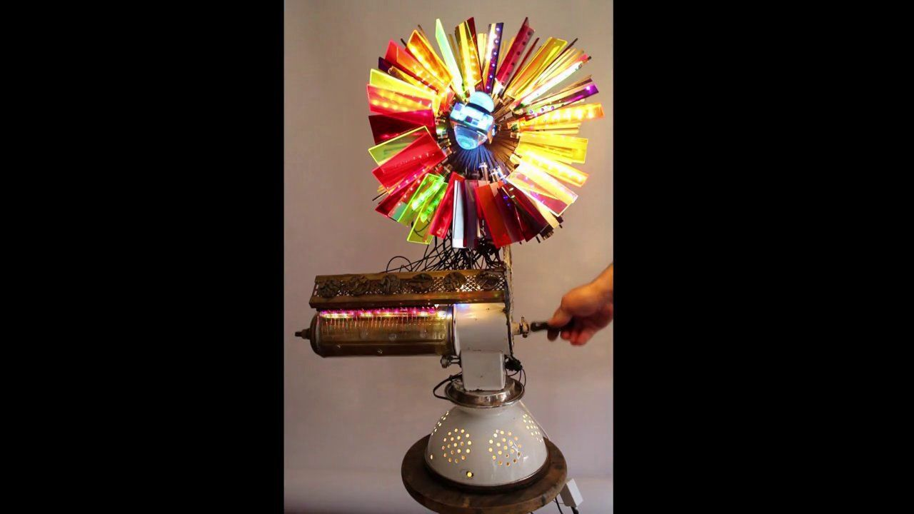 Plexi Color Wheel. In Progress  #lightsculpture #light #assemblage #foundart  #sculpture #abstract #art #abstractart #abstraction  #creative #artist #gallery #form  #found  #recycled  #industrialobject #beauty  #secondlife  #functional #transformation  #paintwithlight #Kogan #sculpturalcomposition #artwork  #form #object #illuminate #musicalinstrument