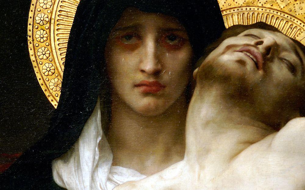 Detail of William-Adolphe Bouguereau's Pieta.