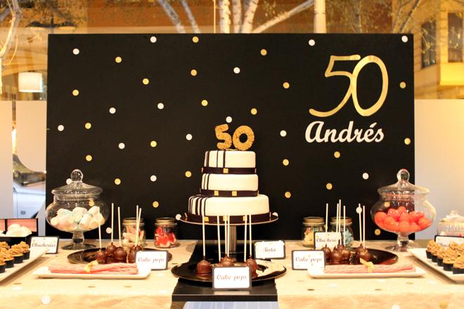 Fiesta de 50 cumplea os 47 ideas geniales fiestas - Decoracion 50 cumpleanos ...