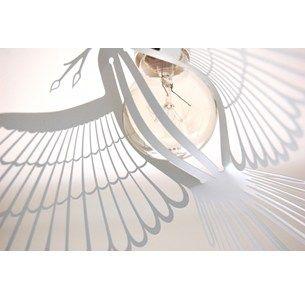 birdlight, fugle lampe i metal, sættes direkte på pære