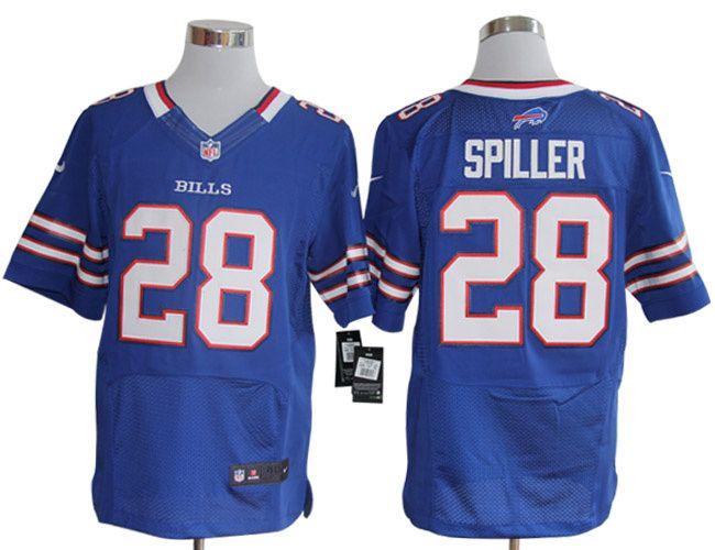 ... denmark nike bills c. spiller blue team color mens nfl elite jersey and  jersey number 12973e626