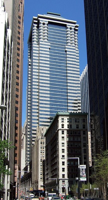 50) 60 Wall Street (Deutsche Bank) 227m 745 ft 55