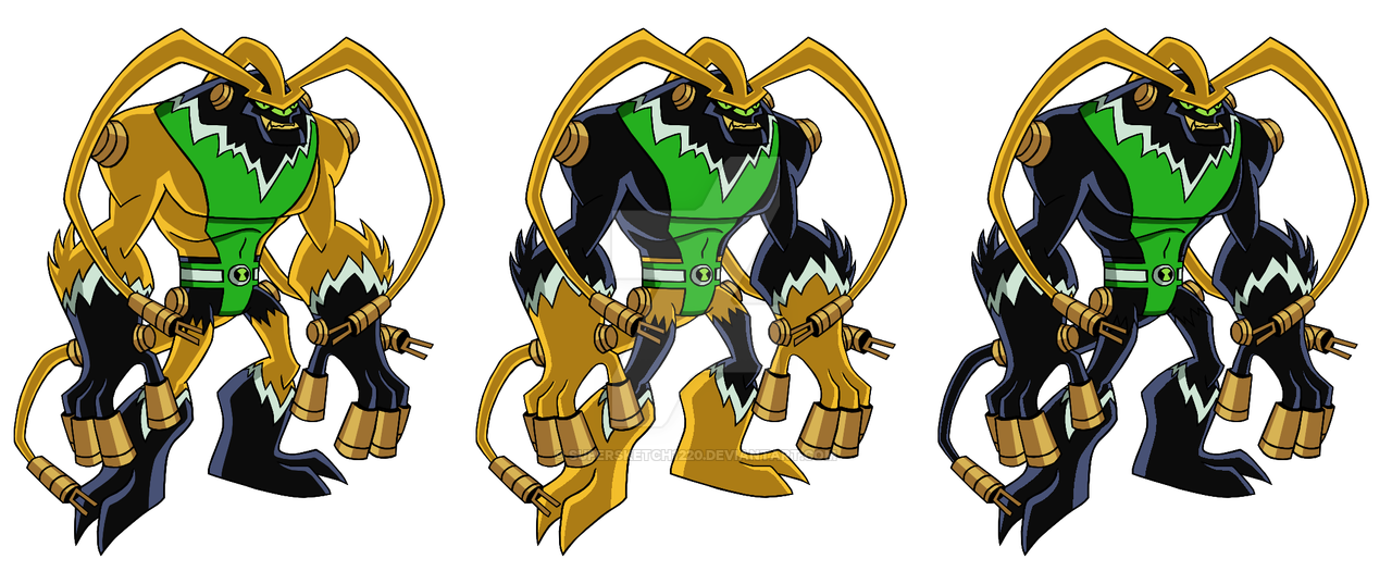 Feedback/Shocksquatch Fusion (3 Versions) by Supersketch1220