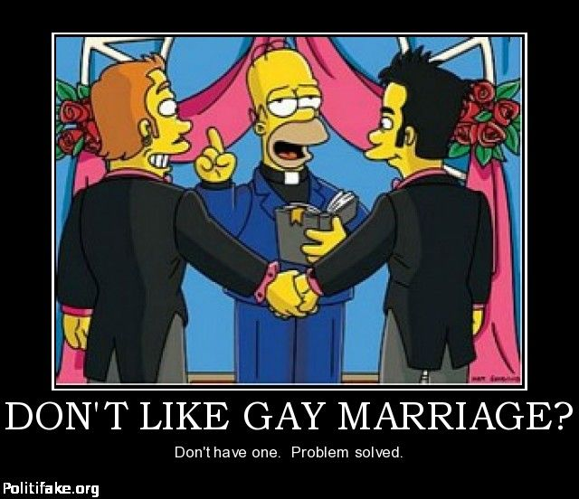Homer Simpson Wedding Quotes: Don't Like Gay Marriage? Don't Have One. Problem Solved