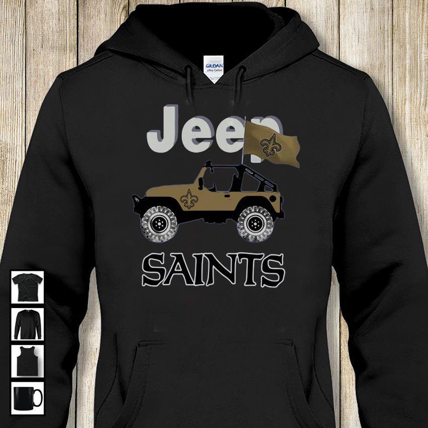 Jeep New Orleans Saints Flag Shirt Unisex Shirt Longsleeve Unisex Shirts New Orleans Saints Flag Shirt