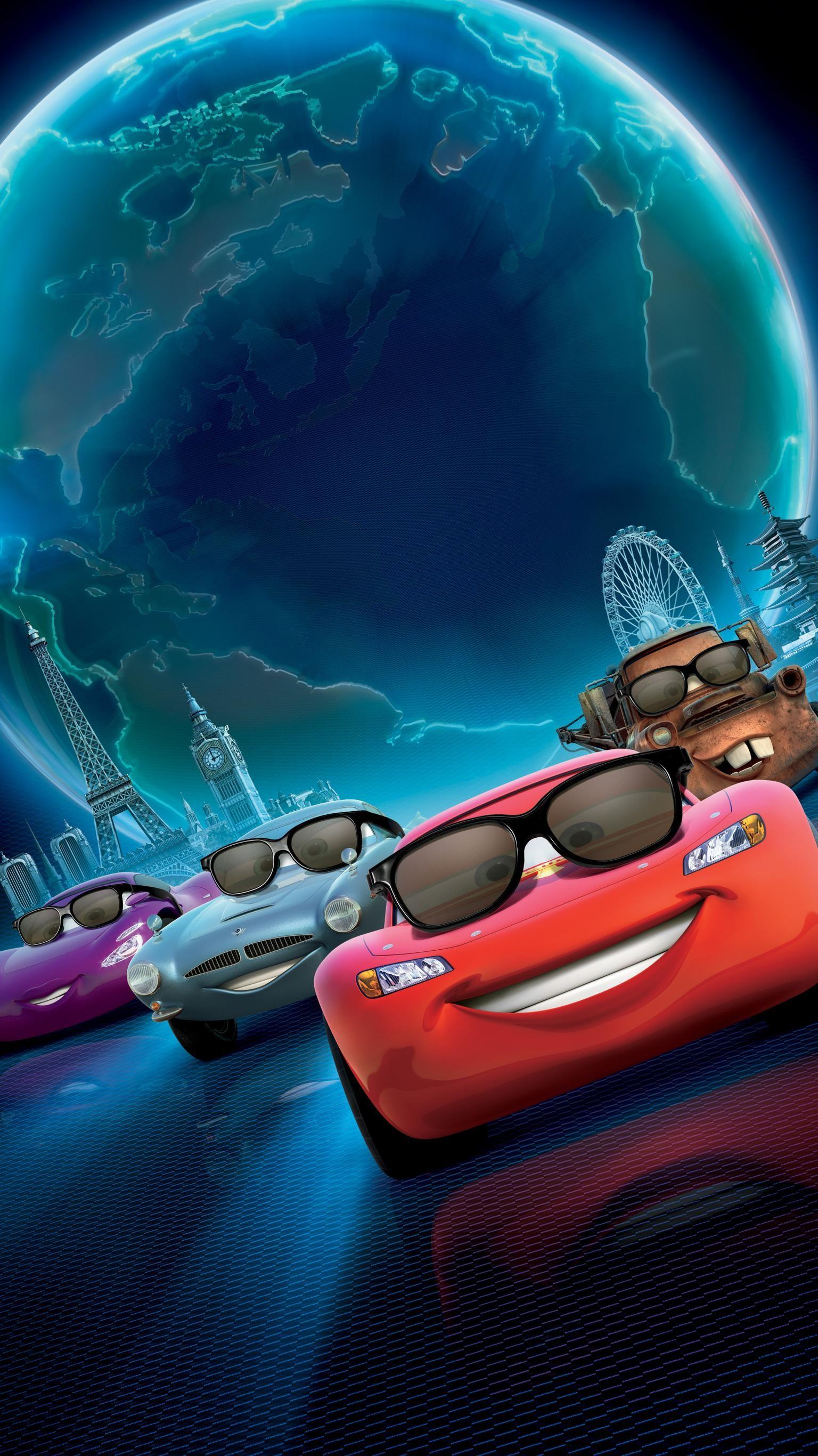 Cars 2 2011 Phone Wallpaper Moviemania Disney Cars Movie Disney Cars Movie Wallpapers [ 2732 x 1536 Pixel ]