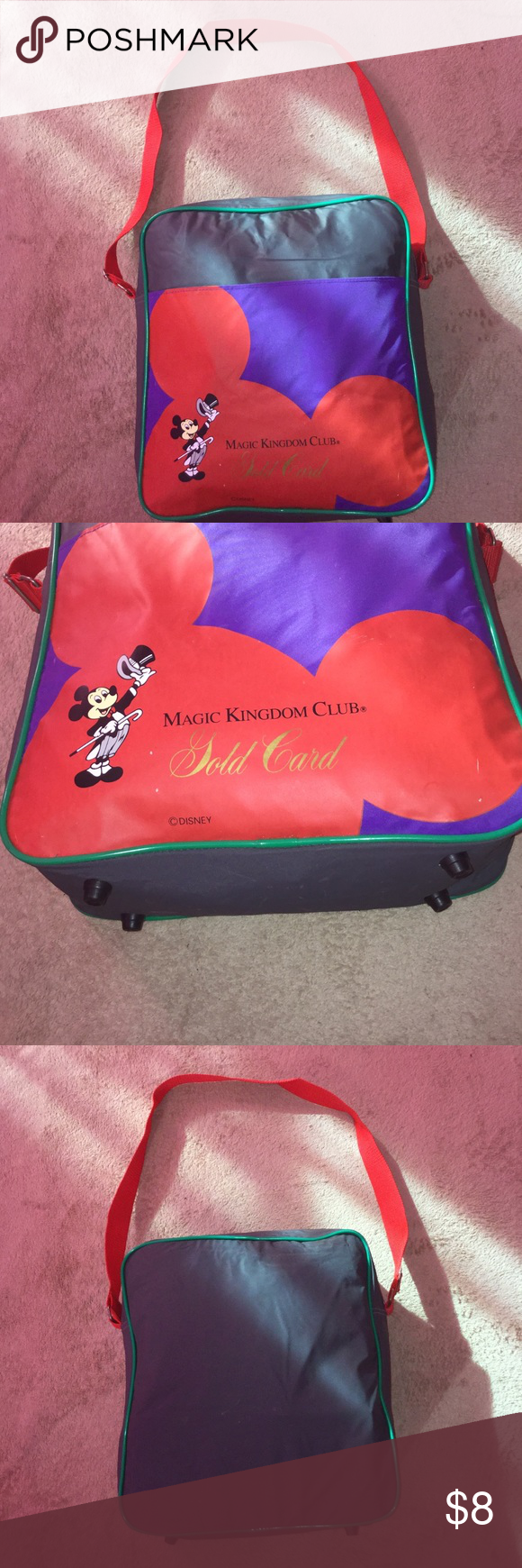 DISNEY MAGIC KINGDOM CLUB GOLD CARD BAG Good Condition. Bag Have Scratches And Scrapes, please View My Pictures And Read My Listing Before You Purchase Item. Same Fay Shipping. Same Day Shipping Disney Bags Crossbody Bags