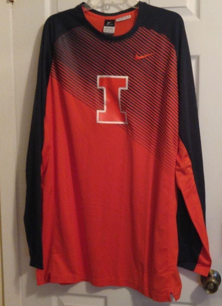 71b4d629de15 NEW Nike Elite Dri-Fit ILLINOIS Fighting Illini Basketball Game Training  Shirt  Nike  IllinoisFightingIllini