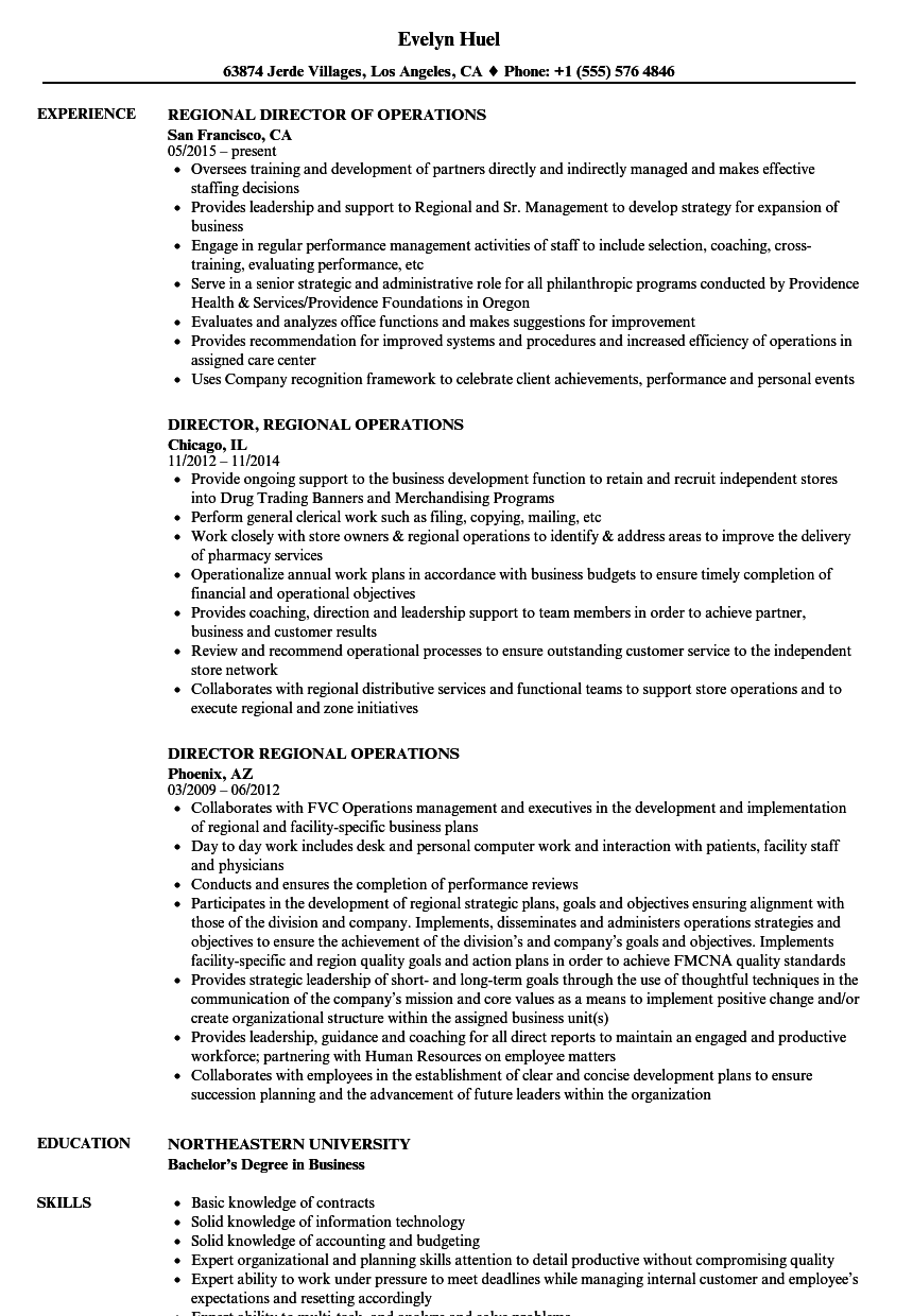 Resume Examples Director Of Operations Resume examples