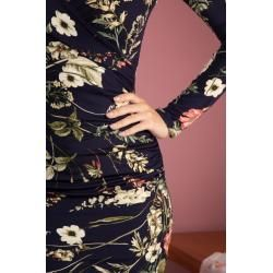 Photo of 50s Georgie Floral Pencil Dress in NavyTopvintage.de