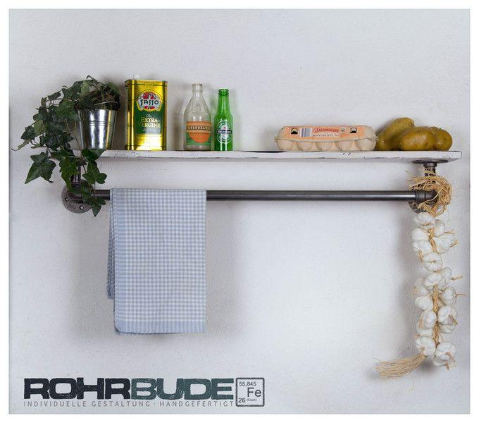 Vintage Regale - Küchenregal Rohrregal Bad Industriedesign Loft WC - ein Designerstück von Rohrbude bei DaWanda