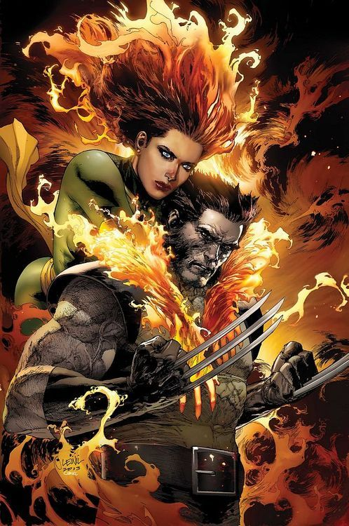 Phoenix & Woverine by Leinil Yu.