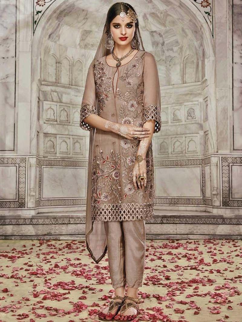 Designer salwar kameez mesmeric peach color net designer suit - Find This Pin And More On Designer Straight Salwar Kameez Suit