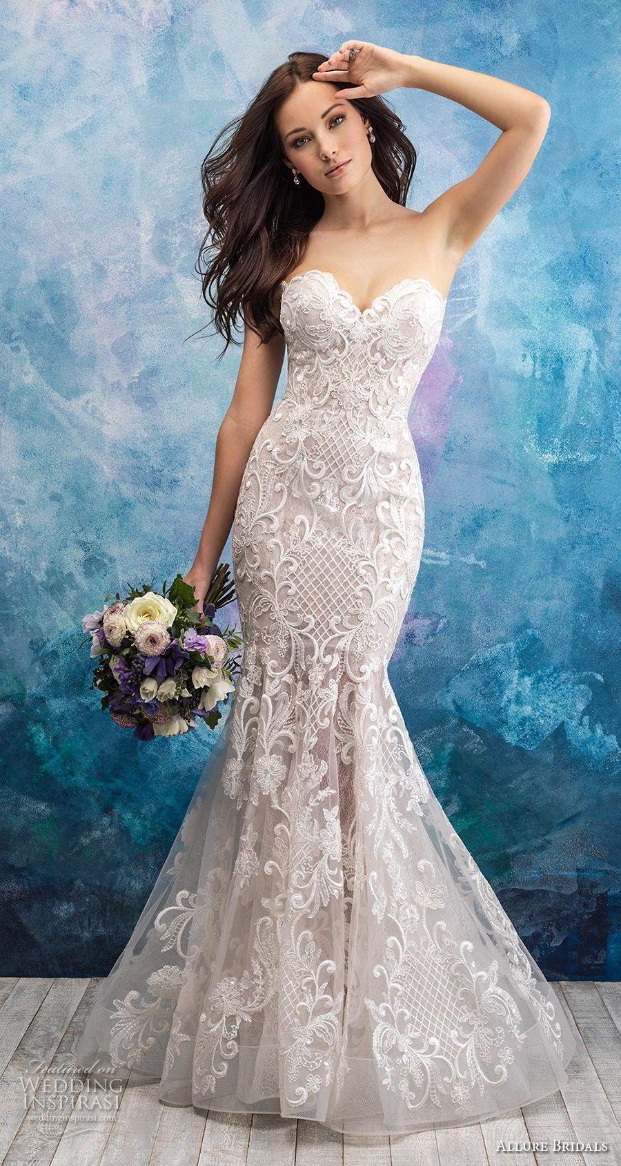 Elegant mermaid wedding dresses  Allure Bridals Fall  Wedding Dresses  Allure bridal Mermaid