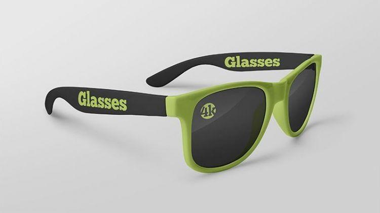Glasses mockup psd