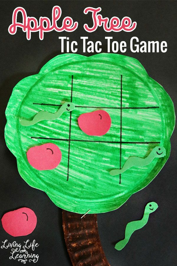 Add some spice to a favorite game, create your own apple tree tic tac toe game for the fall