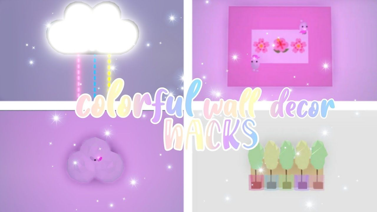 adopt me colorful wall decor hacks adopt me building on wall hacks id=29538