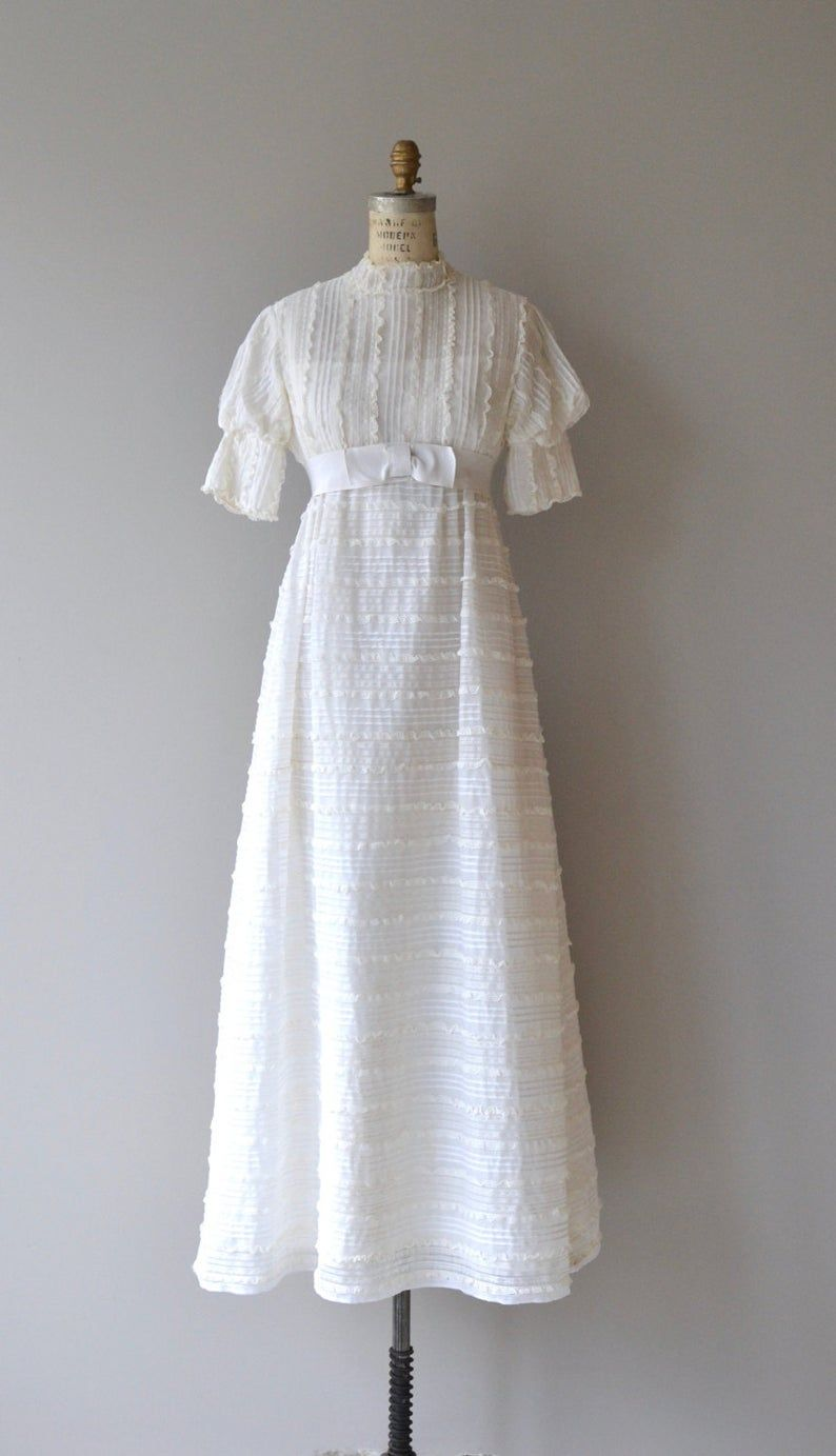 Clementine wedding gown vintage 1960s wedding gown mod 60s