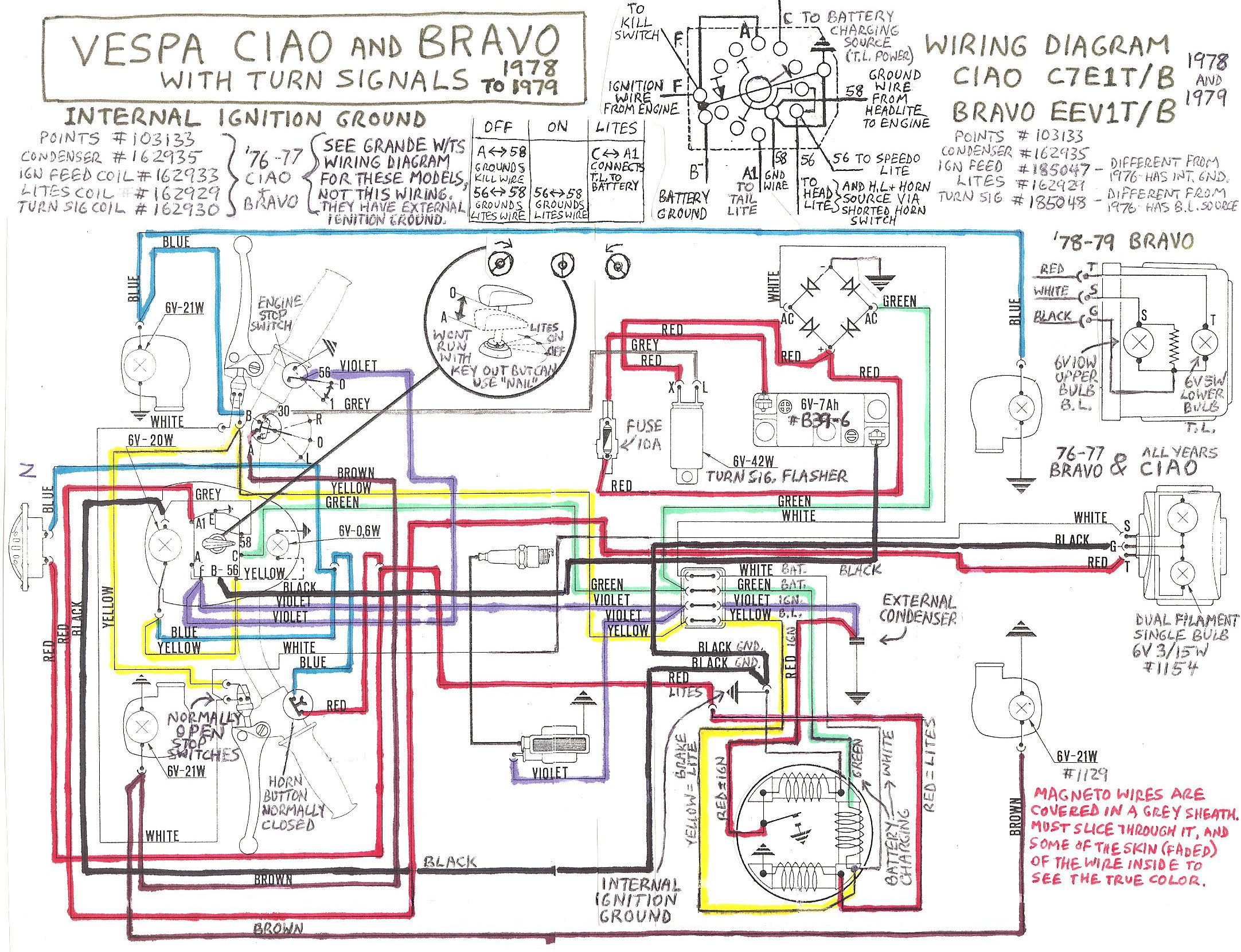 Image:Vespa-ciao-bravo-with-signals.jpg - MopedWiki   ProyectosPinterest