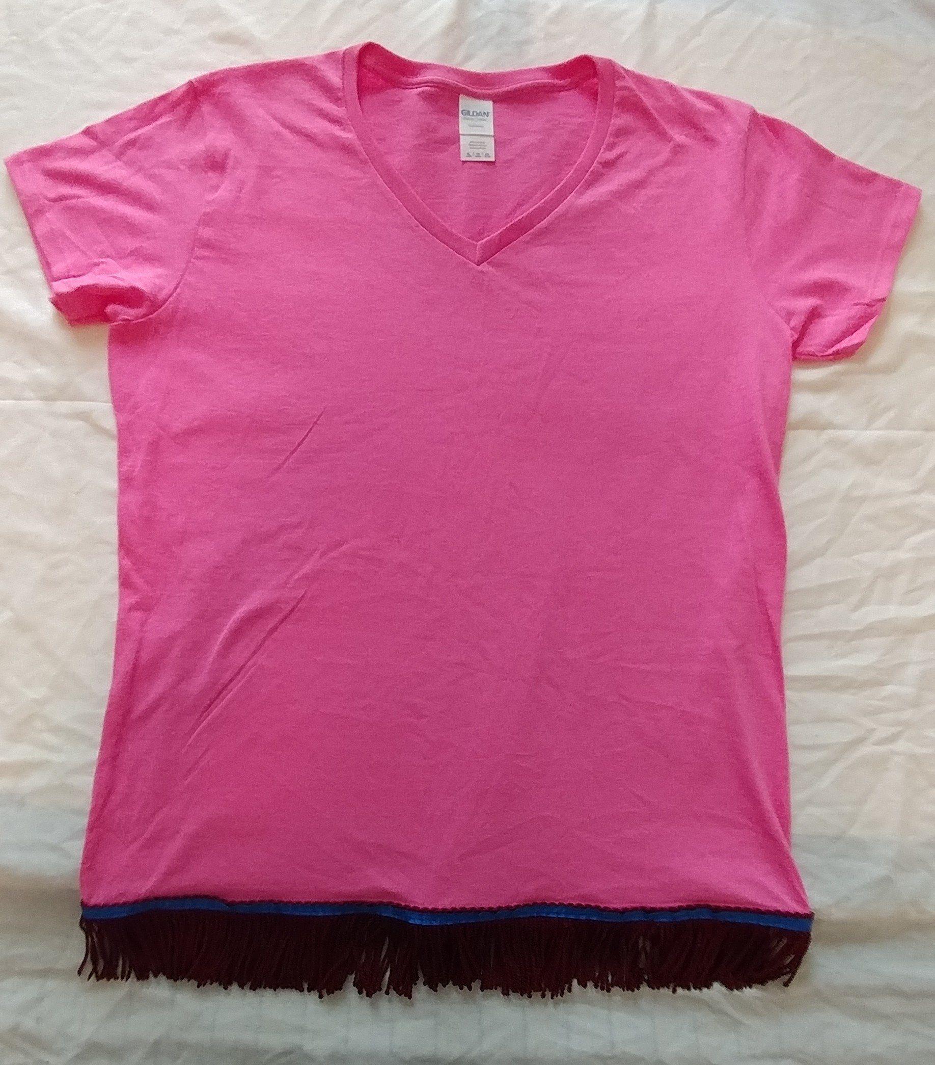 Hebrew Israelite T Shirt W Burgundy Fringes Women S