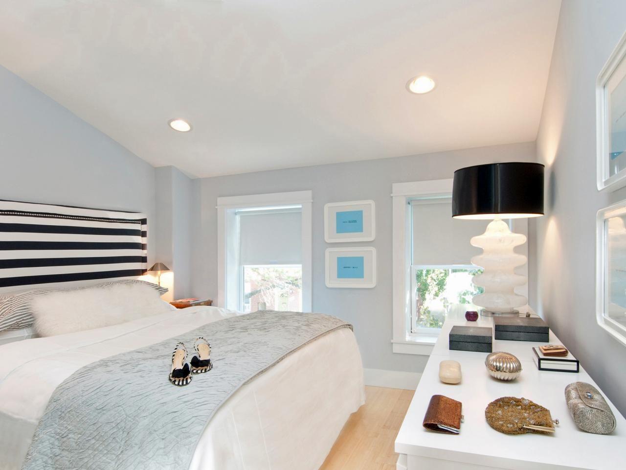 Charmante, Moderne Schwarz Und Weiß Schlafzimmer
