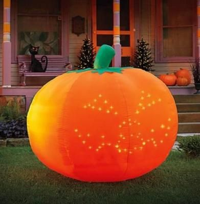 5ft AIRBLOWN INFLATABLE LIGHTED SINGING THRILLER PUMPKIN Outdoor - outdoor inflatable halloween decorations