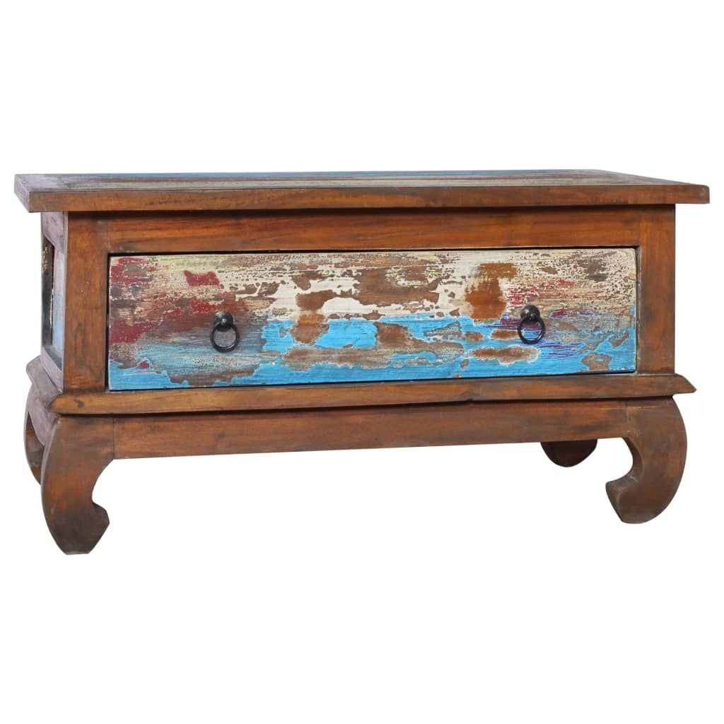 Coffee Table End Side Accent Couch Reclaimed Teak Wood/Solid Teak Wood - Brown